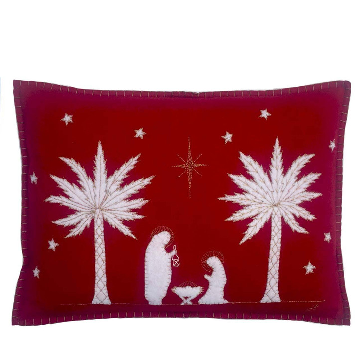 The Nativity Cushion (Red)