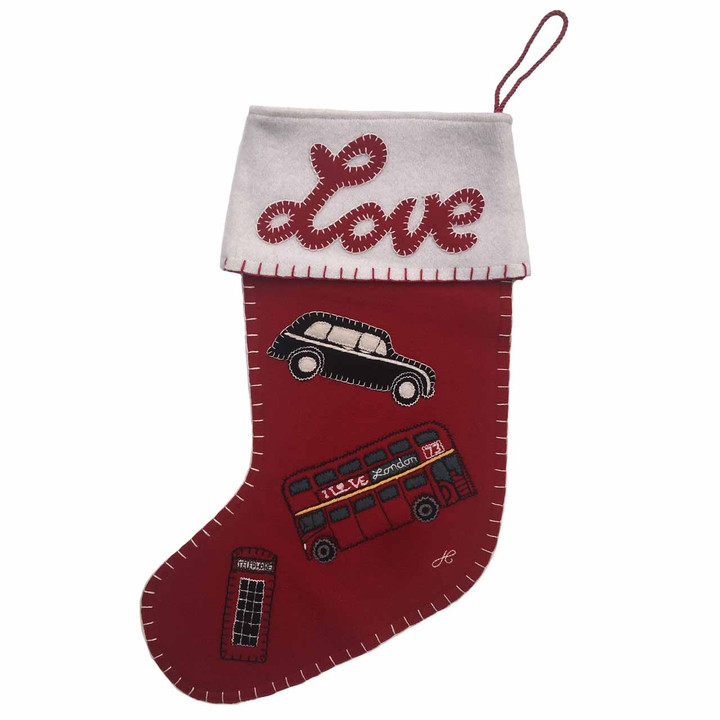 London Icons Love Christmas Stocking
