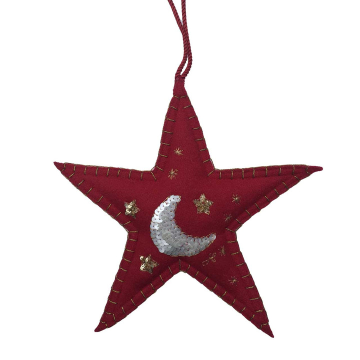 Moon Christmas Star Decoration