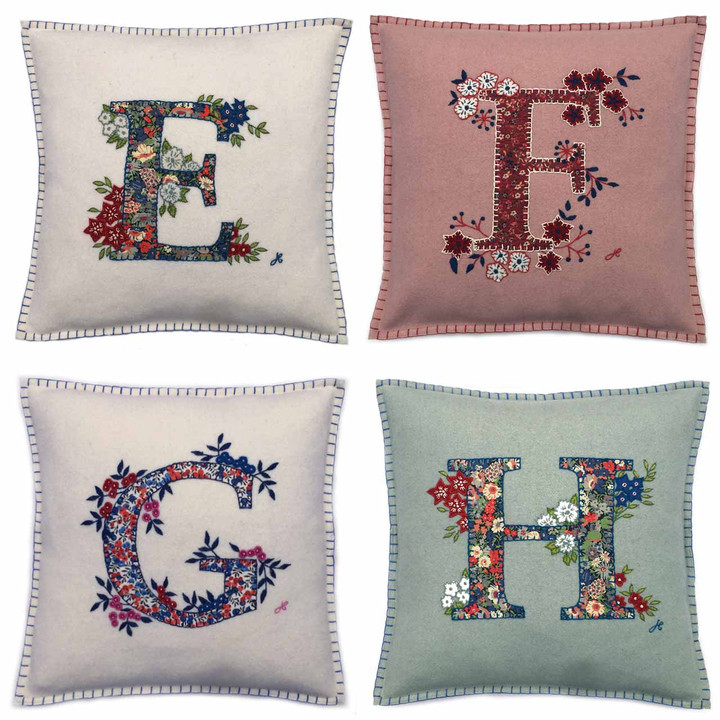 Monogram Liberty Print Cushions