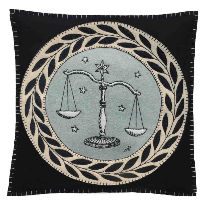 Libra Cushion (Black)