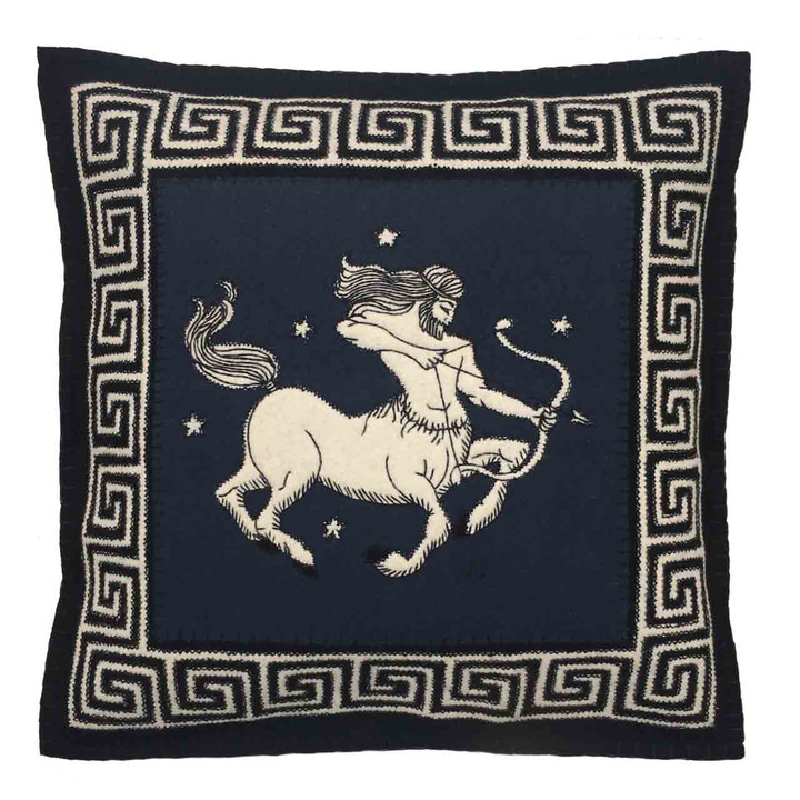 Sagittarius Cushion (Black)