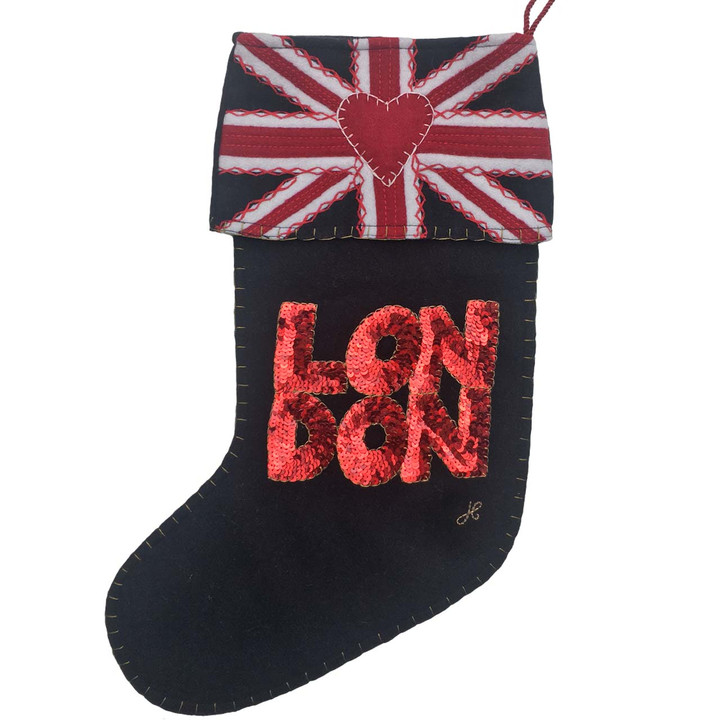 London Union Jack Stocking (Black)