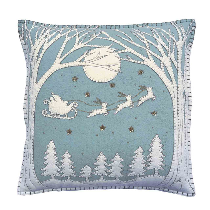 Christmas Eve Cushion (Duck Egg Blue)