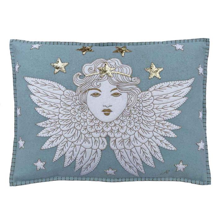 Angel Cushion (Duck Egg Blue)