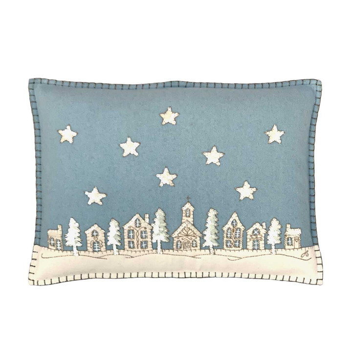 Starry Night Cushion (Duck Egg Blue)