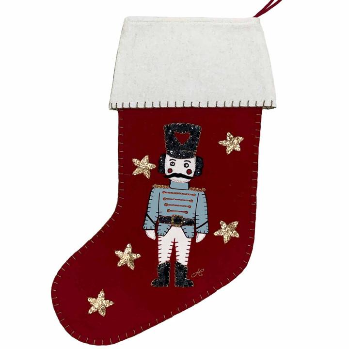 Nutcracker Christmas Stocking (Red)