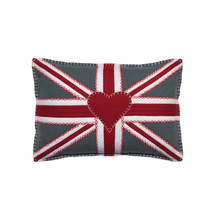 Small Union Jack Crunch Cushion (Grey)