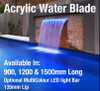 1500mm Acrylic Water Blades - 135mm Lip BOTTOM INLETS