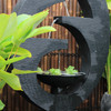 New Eclipse Concrete Modern Water Feature - Medium 130cm - Charcoal