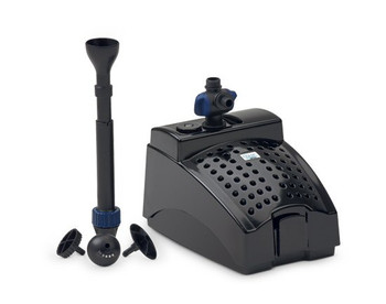 This Multi-function 3 in 1 solution pump is ideal for small ponds. Guarantees clear and healthy pond water, with the possibility of also operating a fountain:.