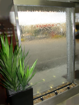 Water Features  Stainless Steel Clear Glass Wall Freestanding 1200mm Wide x 2000mm High