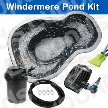 Our Windermere DIY Pond Bundle will allow you to create your own Garden water pond oasis. All you need to do is decide where you want the pond to go and yes, a bit of digging to sit your pond - after all this is intended to be a DIY Kit!