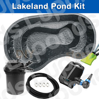 Our Lakeland DIY Pond Kit is the ultimate Bundle to allow you to create your own Garden water pond oasis. All you need to do is decide where you want the pond to go and yes, a bit of digging to sit your pond.