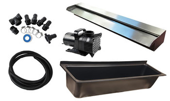 DIY Outdoor Wall Water Feature Kit Projecting Effect 900mm Water Blade with 1600mm Long Trough