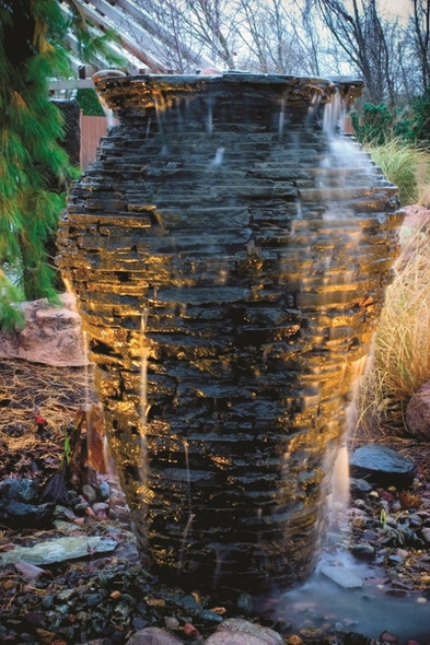 Slate Stone Look Urn Water Feature