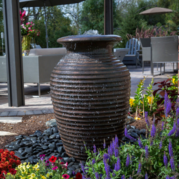 Rippled Urn Landscape Fountain Kit