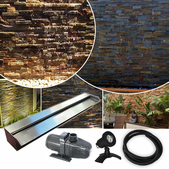 STARTER300 DIY Water Wall | Wall Wash Effect - 304G Kit + LED Light - FREE SHIPPING