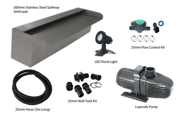 STARTER300 KIT + LED Light + Wall Tank Fitting