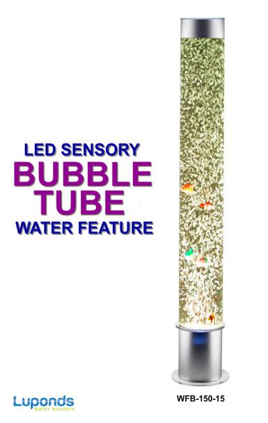 Bubble Tube Water Feature 150cm High - LED Sensory