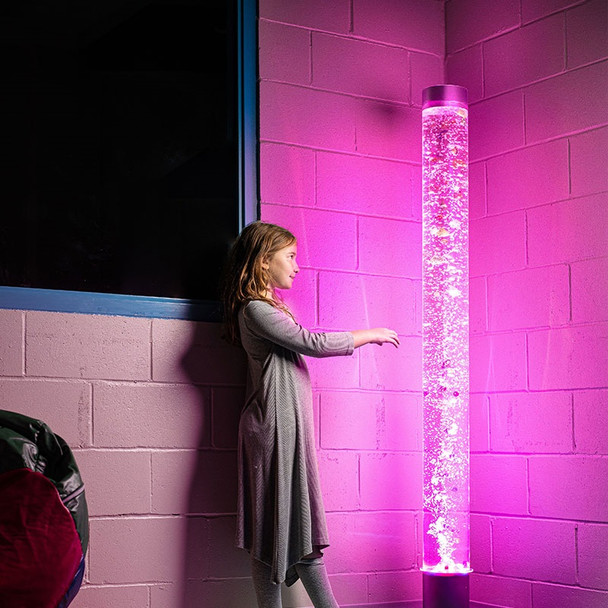 Bubble Tube Water Feature 180cm High - LED Sensory
