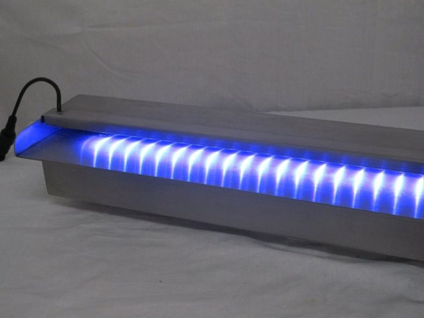 600mm wide MULTI COLOUR LED Light Bar & Spillway Blade Water Feature