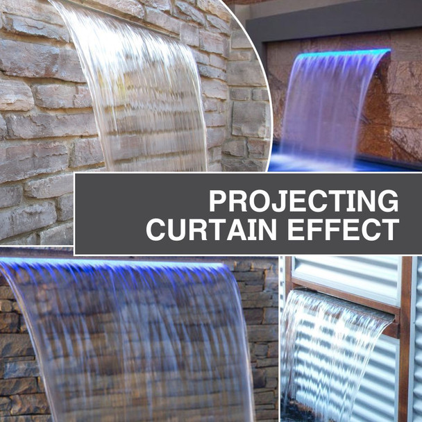 luponds 1500mm wide projecting effect water wall kit