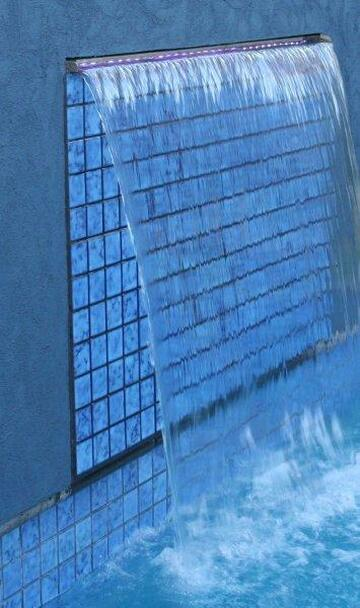 1200mm Wide Spillway Water Wall Blade - 35mm Lip