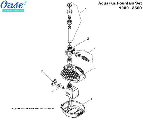 Oase Aquarius Fountain Set 1500 Pump