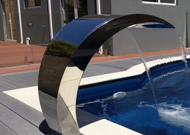 Pacific600 - BRUSHED Finish Water Fall Feature