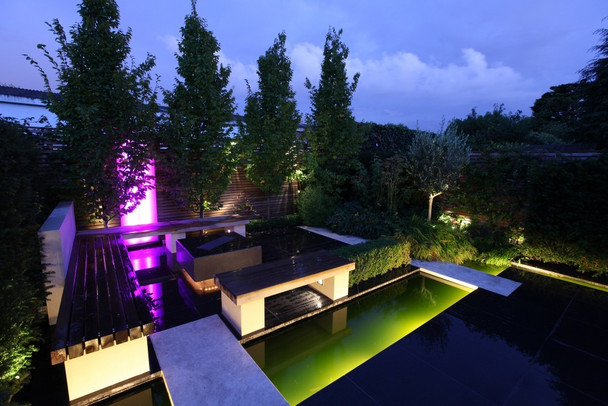 LED Multi Colour Pond Light Kit  with Remote - Set of 3