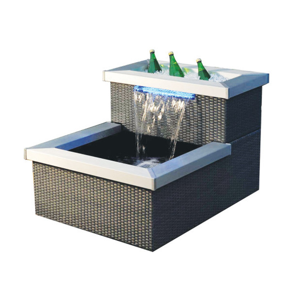 Allora Wicker Rattan 2 Tier Patio Water Feature