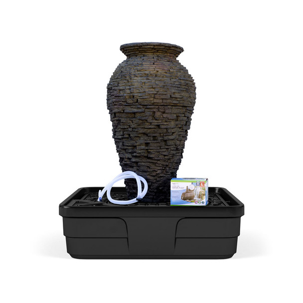 Slate Stone Look Urn Water Feature Fountain Kit