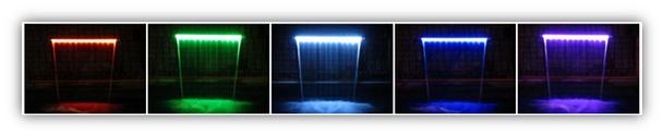 900mm Acrylic Waterwalls - 30mm Lip BOTTOM INLET