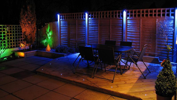 LED Multi Colour Pond Light Kit  with Remote - Set of 2