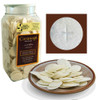 """1-3/8"""" White Altar Bread Canister of 750"""