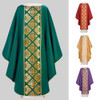 631 Green Chasuble with Collar