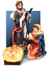 Holy Family 3 Piece Nativity Set 43 Inches high