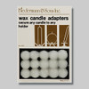 Package of 15 Wax Candle Adapters