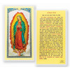 Spanish Our Lady of Guadalupe Holy Card