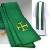 3576 Green Overlay Stole in Pius