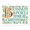 Blessing and Peace Christmas Card Boxed