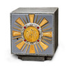 K658 Tabernacle Oxidized Silver with Gold Rays