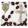 St. Michael Rosary with Brown Beads