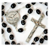 Holy Spirit Rosary with Black Wood Beads