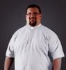 Hurley's Black SS Ample Cut Tab Clergy Shirt