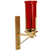 K161 Wall mount Sanctuary Lamp in High Polish Brass