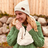 Image of Oatmeal Chenille Winter Hat for Women