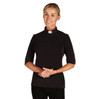 WC945 Women's SS Jersey Knit Tab Shirt Black