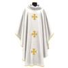 318 Chasuble in Monastico Fabric White